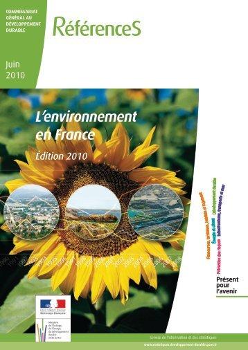 l'environnement en France - Ministère du Développement durable