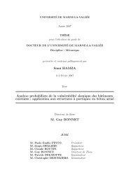 Sami HAMZA Analyse probabiliste de la vulnérabilité sismique - CSTB