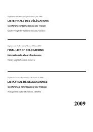 liste finale des délégations - International Labour Organization