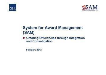 System for Award Management (SAM) - Acquisition Central