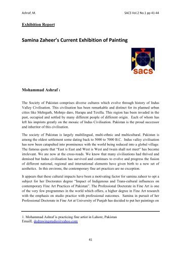 Samina Zaheer's Current Exhibition of Painting - Edge Hill University