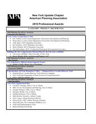 New York Upstate Chapter American Planning Association 2010 ...