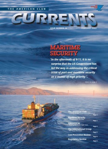 "Issue Number 16 - February 2003 - ""Maritime Security"""