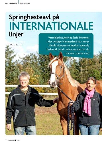 Springhesteavl på internationale linjer - Stald Hummel