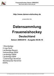 Fraueneishockey Saison 2009/2010 - Fraueneishockey in ...