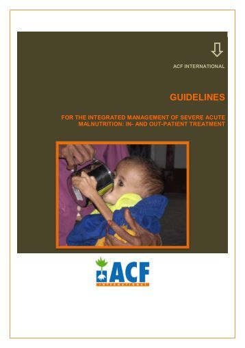 guidelines for the integrated management of severe acute malnutrition