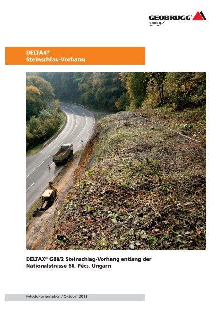 DELTAX ® Steinschlag-Vorhang entlang ... - Geobrugg AG