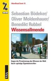 Benedikt Rubbel Wissensallmende - attac Marburg