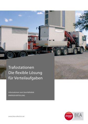 Produktblatt Trafostationen - Christof Group