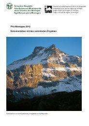 Dokumentation mit den nominierten Projekten - Schweizer Berghilfe