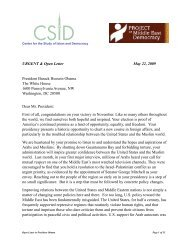 Letter to Pres Obama about Democracy - Center for the Study of ...