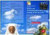 Konzert- und Unterhaltungsabend 2012 Samstag, 10. Nov. 20.15 Uhr