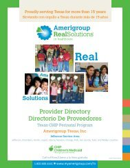 Provider Directory Directorio De Proveedores - Amerigroup
