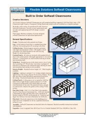 Flexible Solutions Softwall Cleanrooms - Clean Rooms International ...