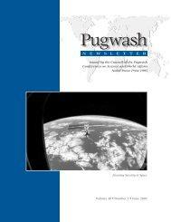 Pugwash Newsletter Vol.40 No.1, June 2003