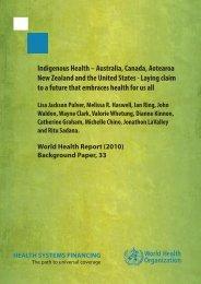 Indigenous Health – Australia, Canada, Aotearoa New Zealand and ...