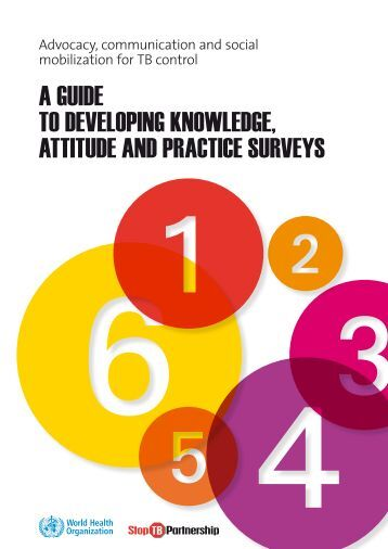 a guide to developing knowledge, attitude and practice surveys