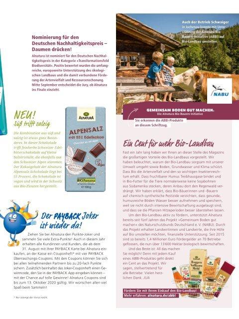 Alnatura Magazin September 2020