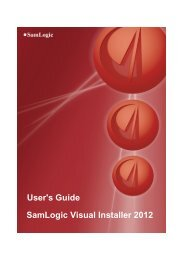 SamLogic Visual Installer 2012 User's Guide