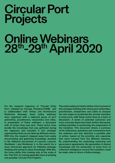 Report Online Webinars_Circular Port Projects