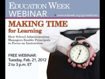 Making Time for Learning: How School ... - Education Week