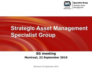 Agenda - Strategic Asset Management