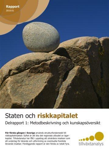Staten och riskkapitalet. Rapport 2010:01 - Tillväxtanalys
