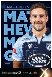 Cardiff Blues v Ospreys Official Matchday Programme