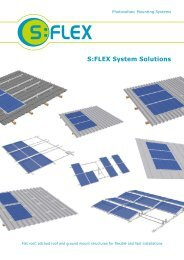 S:FLEX mounting system solutions