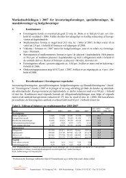 Se den fulde markedsudviklingsrapport her - Finanstilsynet