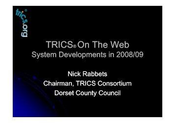 TRICS® On The Web TRICS® On The Web
