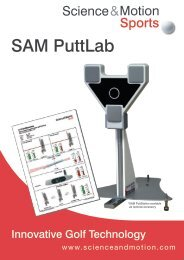 SAM PuttLab Applications - Science & Motion Golf