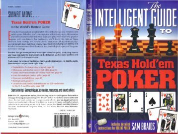 The Intelligent Guide To Texas Hold Em Poker
