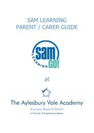 SAM LEARNING PARENT GUIDE - The Aylesbury Vale Academy