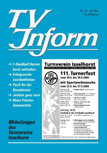 TV Inform Nr.76 - Turnverein Isselhorst v. 1894 eV