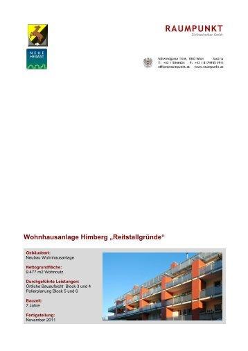 """Wohnhausanlage Himberg """"Reitstallgründe"""" - Raumpunkt ..."""