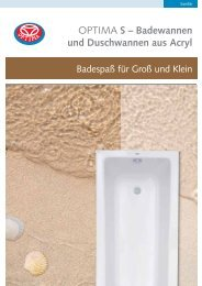 OPTIMA S – Badewannen und Duschwannen aus Acryl - Heinrich ...