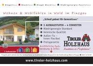 Wald im Pinzgau - Tiroler Holzhaus