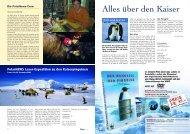Alles über den Kaiser - Polar-Reisen.ch