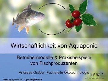 Wirtschaftlichkeit von Aquaponic