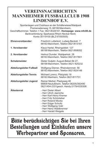 Heft 4 aus 2005 - MFC 08 Lindenhof