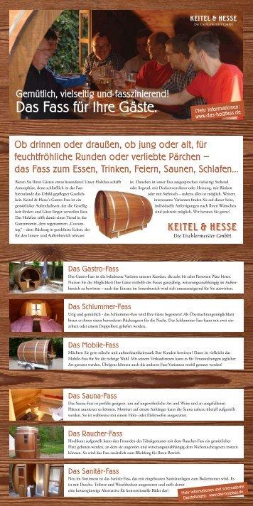Das Fass für Ihre Gäste. - das-holzfass.de