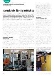 Drucklu7ft für Sparfüchse - KAESER KOMPRESSOREN GmbH