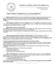 allergy & asthma clinics of georgia, pc - Allergy & Asthma Clinics of GA
