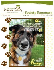 June Newsletter New Format Tri County Humane Society