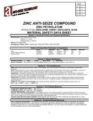 zinc anti-seize compound zinc petrolatum - Anti-Seize Technology
