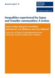 inequalities experienced by gypsy and traveller communities: a review