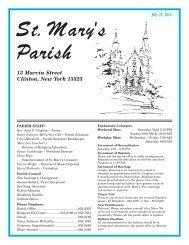 July 25, 2010 - St. Mary's Clinton
