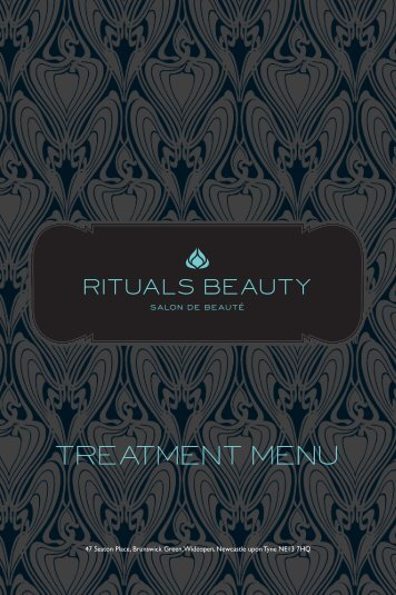TREATMENT MENU - Rituals Beauty