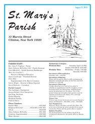 August 22, 2010 - St. Mary's Clinton